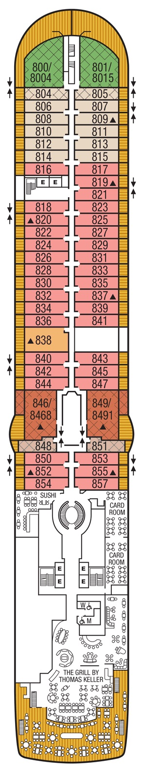 Seabourn Encore - Deck 08