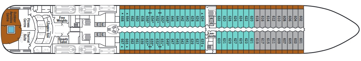 Silver Spirit - Deck 6 (From Apr 2020)