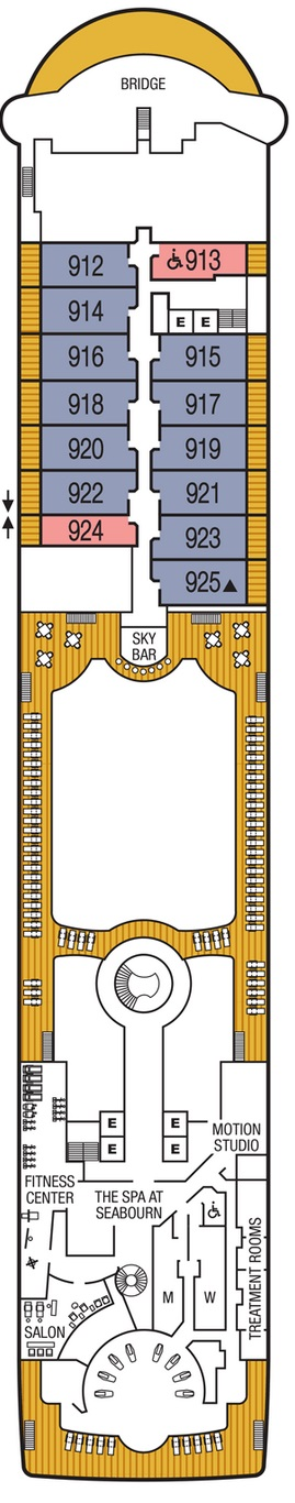 Seabourn Sojourn - Deck Nine