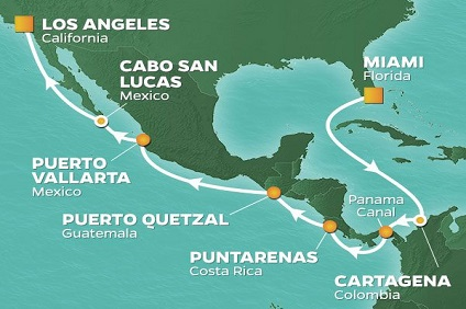 Journey, Panama Canal Holiday Voyage ex Miami to Los Angeles