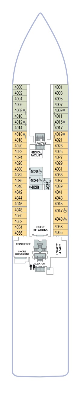 Azamara Journey - Deck 4 (Valid 2020 Onwards)