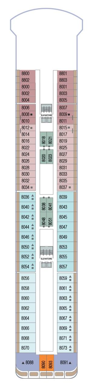 Azamara Journey - Deck 8 (Valid 2020 Onwards)