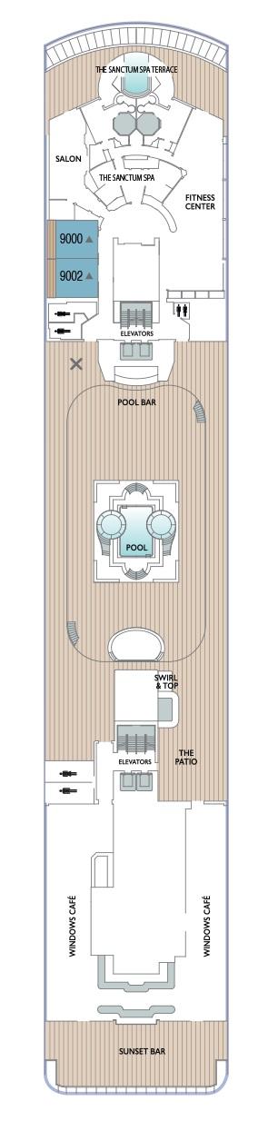 Azamara Journey - Deck 9 (Valid 2020 Onwards)